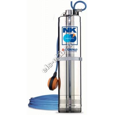 Насос колодезный многоступенчатый PEDROLLO NKm 2/3 GE-N (Qmax=4,8 м³/час, Hmax=46 м, 220В, 0,55 кВт, кабель 20 метров )