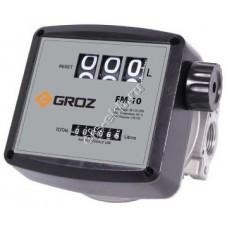 Счетчик механический GROZ FM-10/0-1/BSP, арт. 45640 (20-120 л/мин, дизтопливо, биодизель, масла)
