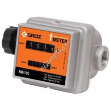 Счетчик механический GROZ FM-100/0-1/BSP, арт. 45683 (15-75 л/мин, бензин, дизтопливо, биодизель, жидкие масла)