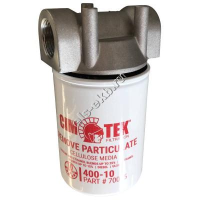 "Фильтр патронный для топлива CIM-TEK 400-10, арт. 70015-1 1/2""-16UNF (Qmax=90 л/мин; 10 мкм)"