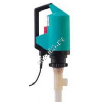 Насос бочковой электрический GRUEN PUMPEN p400-А-230 DL-PVDF-R-HC-1000 (Qmax=100 л/мин; Hmax=20 м; 220В; без отключения при снятии напряжения)