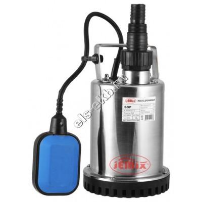 Насос дренажный погружной JEMIX SGP-400 с рубашкой охлаждения и поплавком (Qmax=7 м³/час; Hmax=6,5 м; 220В; 0,4 кВт; кабель 6 метров)