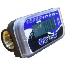Счетчик электронный ADAM PUMPS DI- FLOW, арт. ILG0 (10-150 л/мин; дизель, вода, антифриз, AdBlue)