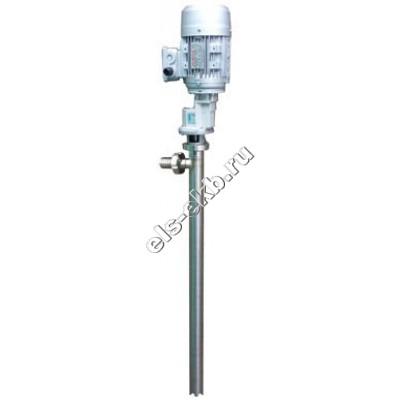 Насос бочковой электрический АМПИКА ВНП-3-МР (1,1х500) ВЗР (Qmax=15 л/мин; Hmax=30 м; 380В; с мотор-редуктором, для высоковязких смол)