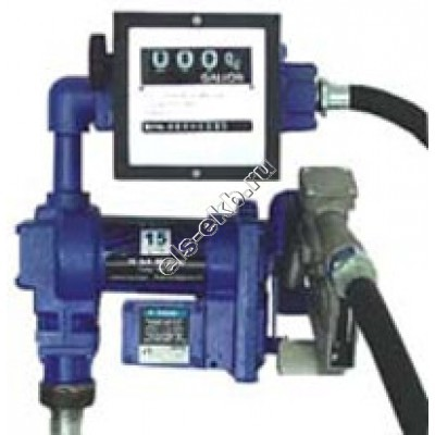 Комплект бочковой для бензина электрический АМПИКА DB-50 DC12 (Qmax=50 л/мин; 12В; со счетчиком)
