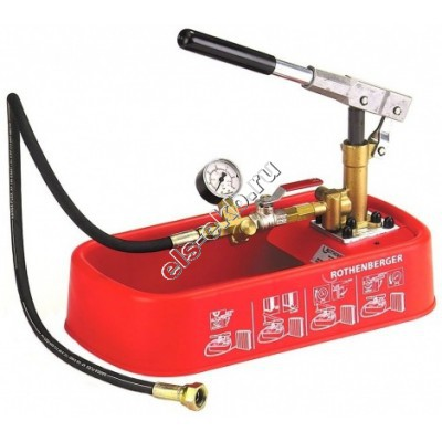 Насос опрессовочный ручной ROTHENBERGER RP-30, арт. 61130 (Pmax=30 атм; Qmax=16 cм³/цикл; с баком 4,5 л)