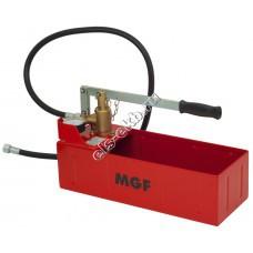 Насос опрессовочный ручной MGF Компакт-50, арт. 905900 (Pmax=50 атм; Qmax=2,5 cм³/цикл; с баком 12 л)