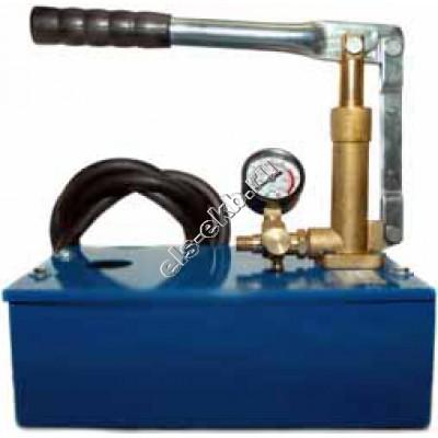 Насос опрессовочный ручной АМПИКА НА-25 (Pmax=25 атм, , Qmax=13 cм³/цикл, с баком 5 л)