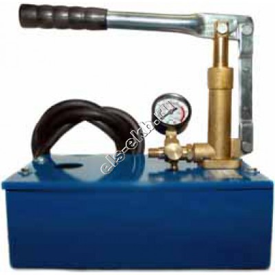 Насос опрессовочный ручной АМПИКА НА-60 (Pmax=60 атм; Qmax=13 cм³/цикл; с баком 5 л)