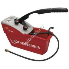 Насос опрессовочный ручной ROTHENBERGER TP-40, арт. 60220 (Pmax=50 атм, , Qmax=45 cм³/цикл, с баком 6,5 л)