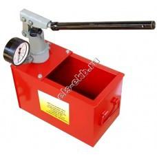 Опрессовщик ручной УГИ-1 (Pmax=450 атм; Qmax=3,2 cм³/цикл; с баком 20 л)