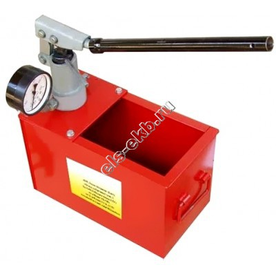 Насос опрессовочный ручной УГИ-1 (Pmax=450 атм; Qmax=3,2 cм³/цикл; с баком 20 л)