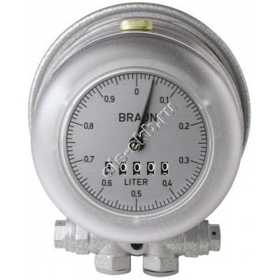Счетчик механический PRESSOL HZ3 (0,003-0,5 л/мин; для горелок; дизтопливо)
