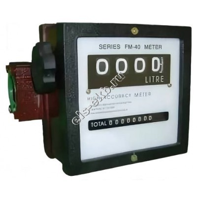 Счетчик механический АМПИКА FM-40L (20-150 л/мин; бензин, дизтопливо, керосин, гсм)