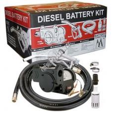 Комплект переносной для дизельного топлива электрический GESPASA DIESEL BATTERY KIT 12V (Qmax=50 л/мин; 12В)