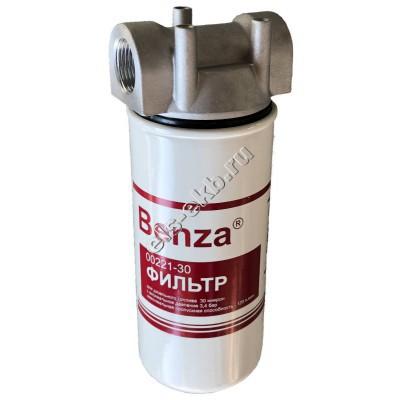 """Фильтр патронный для дизельного топлива BENZA, арт. 00221-30-АВ-1-1"""" (Qmax=120 л/мин; 30 мкм; 1"""" BSP)"""