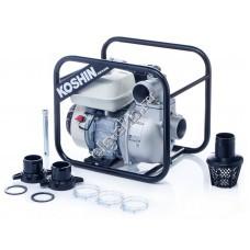 Мотопомпа бензиновая для слабозагрязненной воды KOSHIN SEH-80JP (Qmax=66 м³/час, Hmax=27 м, DN 80, двигатель: Honda GP160)