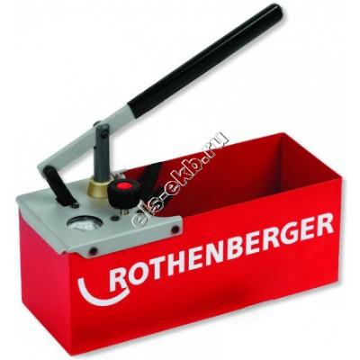 Насос опрессовочный ручной ROTHENBERGER TP-25, арт. 60250 (Pmax=25 атм; Qmax=16 cм³/цикл; с баком 7 л)