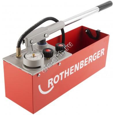 Насос опрессовочный ручной ROTHENBERGER RP-50-S, арт. 60200 (Pmax=60 атм, , Qmax=45 cм³/цикл, с баком 12 л)
