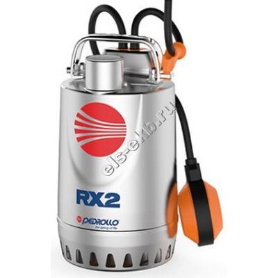 Насос дренажный погружной PEDROLLO RXm 1 с рубашкой охлаждения и поплавком (Qmax=9,6 м³/час; Hmax=7,5 м; 220В; 0,25 кВт; кабель 5 метров с вилкой )
