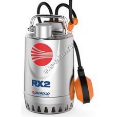 Насос дренажный погружной PEDROLLO RXm 2 с рубашкой охлаждения и поплавком (Qmax=13,2 м³/час; Hmax=10 м; 220В; 0,37 кВт; кабель 5 метров с вилкой)