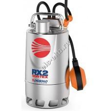 Насос дренажный погружной PEDROLLO RXm 2/20 с рубашкой охлаждения и поплавком (Qmax=10,8 м³/час; Hmax=7 м; 220В; 0,37 кВт; кабель 5 метров с вилкой)