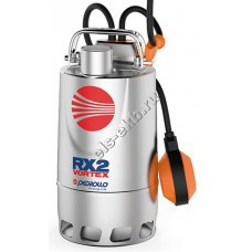 Насос дренажный погружной PEDROLLO RXm 3/20 с рубашкой охлаждения и поплавком (Qmax=10,8 м³/час; Hmax=9 м; 220В; 0,55 кВт; кабель 5 метров с вилкой)