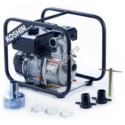 Мотопомпа бензиновая KOSHIN STV-50X (Qmax=34,8 м³/час; Hmax=26 м; DN 50; двигатель: Koshin K180)