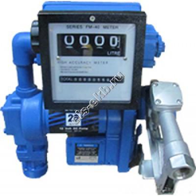 Комплект бочковой для бензина электрический АМПИКА DB-75 DC12 (Qmax=75 л/мин, 12В, со счетчиком)