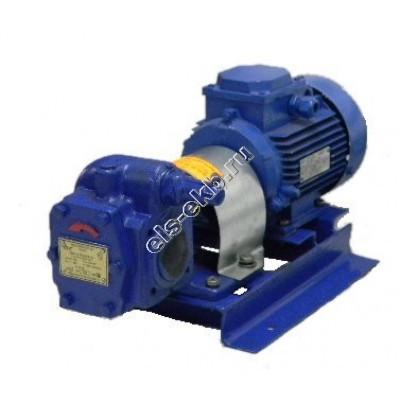 Насос шестеренный ЭЛС НМШ 5-25-4,0/4 с 2,2 кВт (ВЗИ) (Qmax=4 м³/час; Pmax=4 атм; 2,2 кВт; 380В)