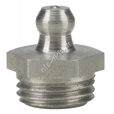 """Пресс-масленка коническая прямая H1, нержавеющая сталь PRESSOL G 1/4"""" VA, SK, SW 14, арт. 15938"""