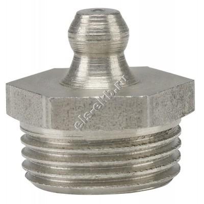 """Пресс-масленка коническая прямая H1, нержавеющая сталь PRESSOL G 3/8"""" VA, SK, SW 17, арт. 15939"""