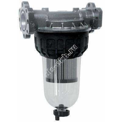 """Фильтр с колбой для дизельного топлива PIUSI F-125, арт. F00611B60 (Qmax=100 л/мин; 125 мкм; 1"""" BSP; с запасным картриджем)"""