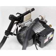 Комплект бочковой электрический BENZA 12-220-40 (Qmax=40 л/мин, Hmax=25 м, 220В, с телескопической заборной трубой, подающим рукавом и раздаточным пистолетом)