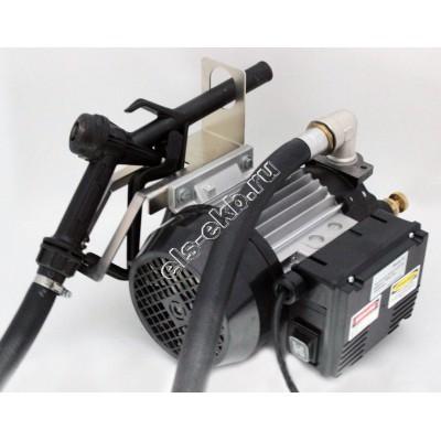 Комплект бочковой электрический BENZA 12-220-40 (Qmax=40 л/мин; Hmax=25 м; 220В; с телескопической заборной трубой, подающим рукавом и раздаточным пистолетом)