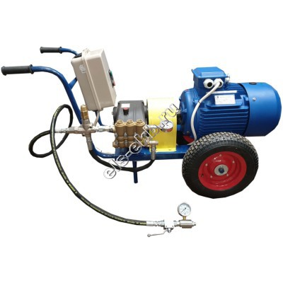 Насос опрессовочный электрический АМПИКА ЕНА 11-500 (Pmax=500 атм, Qmax=11 л/мин, 380В, на тележке)