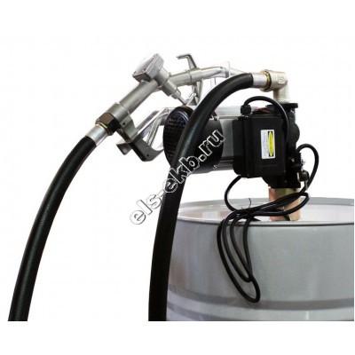 Комплект бочковой электрический BENZA 22-220-60Р (Qmax=60 л/мин; 220В; с телескопической заборной трубой, подающим рукавом и раздаточным пистолетом)