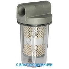 """Фильтр с колбой для дизельного топлива PETROLL GL-6 (Qmax=80 л/мин; 30 мкм; 1"""" BSP; с влагоотделением)"""