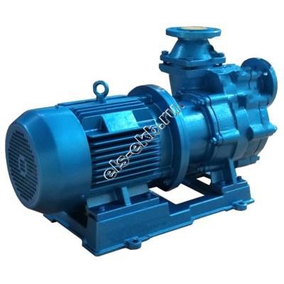 Насос центробежный самовсасывающий с магнитной муфтой ХМСГ-12,5/30-АМ (U+PTFE (чугун+тефлон); Qmax=24,7 м³/час; Hmax=35 м; 380В; 7,5 кВт)