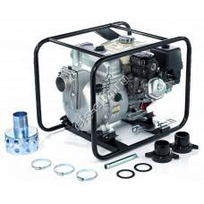 Мотопомпа бензиновая для сильнозагрязненной воды KOSHIN KTH-80X o/s (Qmax=80,4 м³/час, Hmax=27 м, DN 80, двигатель: Honda GX240, с датчиком уровня масла)