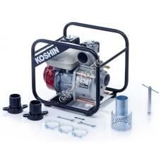 Мотопомпа бензиновая для среднезагрязненной воды KOSHIN STH-80X (Qmax=54 м³/час, Hmax=26 м, DN 80, двигатель: Honda GX160)