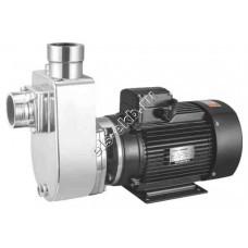 Насос центробежный самовсасывающий ХМС-3/12-АМ_220В (нержавеющая сталь (AISI 304); Qmax=5,0 м³/час; Hmax=14,5 м; 220В; 0,75 кВт)