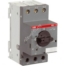 Автомат защиты электродвигателя ABB MS 116-10,0 (3 кВт, с регулировкой тепловой защиты)