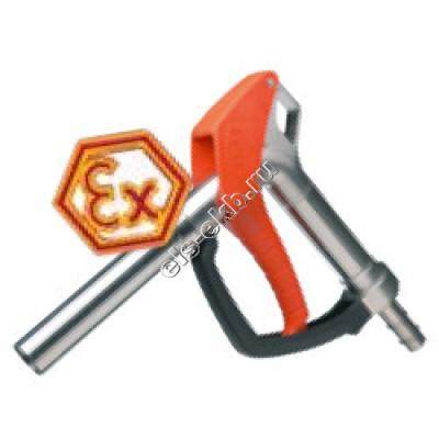 Пистолет химический ручной FLUX из нержавеющей стали, арт. 10-00112542 (Штуцер под шланг Ø 25 мм; 80 л/мин; уплотнение PTFE/FEP)