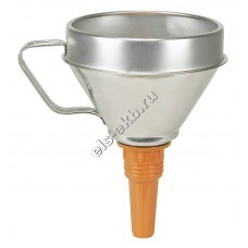 Воронка металлическая для топлива и масла PRESSOL, арт. 02342 (Ø160 мм, 1,3 л, с ситом)