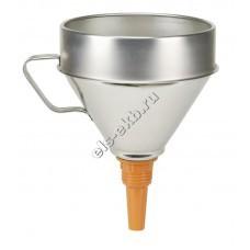 Воронка металлическая для топлива и масла PRESSOL, арт. 02344 (Ø200 мм, 3,2 л, с ситом)