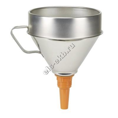 Воронка металлическая для топлива и масла PRESSOL, арт. 02344 (Ø200 мм; 3,2 л; с ситом)