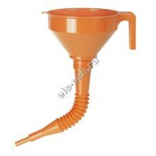 Воронка пластиковая для бензина и масла PRESSOL, арт. 02674 (Ø160 мм, 1,2 л, с ситом, с гибким сливом)