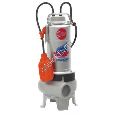 Насос фекальный погружной PEDROLLO VXm 8/50-MF с поплавком (Qmax=27 м³/час, Hmax=6,5 м, 220В, 0,55 кВт, кабель 10 метров с вилкой )