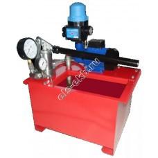Опрессовщик электрический+ручной УГИ-500Э (Pmax=500 атм; Qmax=7,5 л/мин; 220В; с баком 40л)